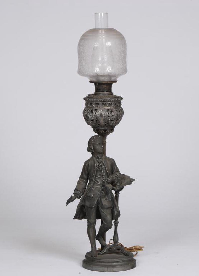 MOZART with MUSIC PEDESTAL FIGURAL TABLE LAMP