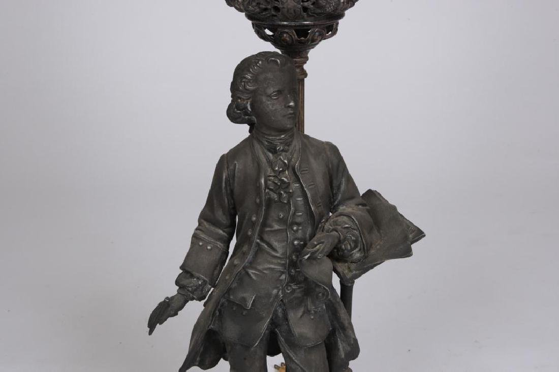 MOZART with MUSIC PEDESTAL FIGURAL TABLE LAMP - 4