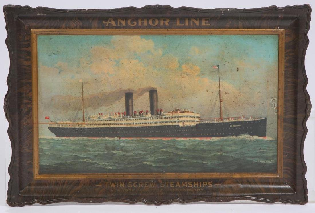 ANCHOR LINE STEAMSHIP ADVERTISING SIGN