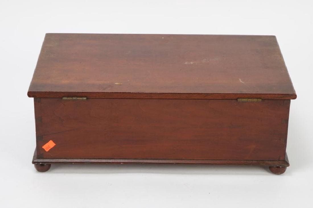 (19th c) CHERRY DOCUMENT BOX - 2