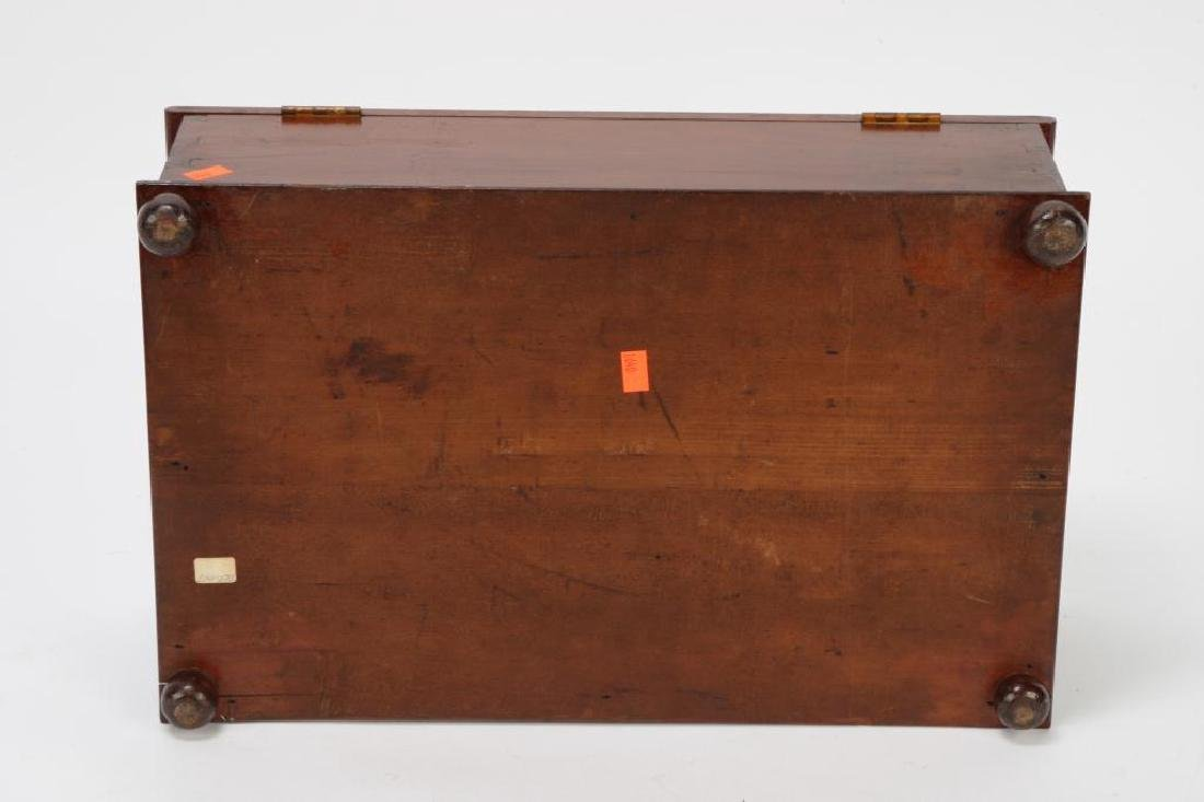 (19th c) CHERRY DOCUMENT BOX - 3