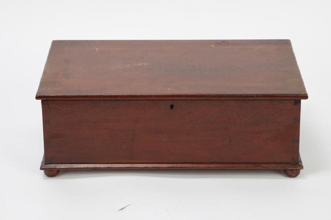 (19th c) CHERRY DOCUMENT BOX - 4