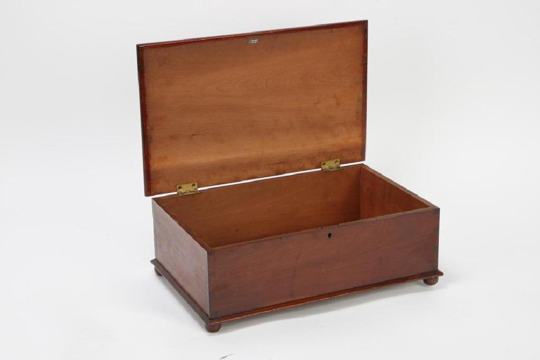 (19th c) CHERRY DOCUMENT BOX - 7