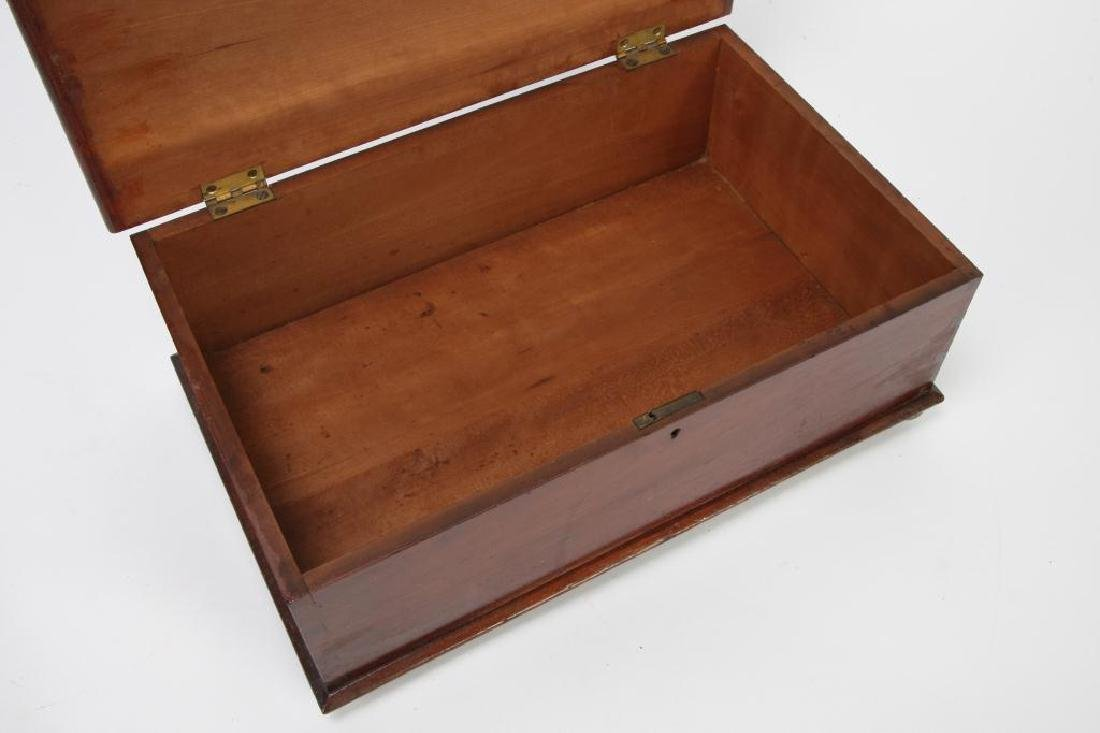 (19th c) CHERRY DOCUMENT BOX - 8