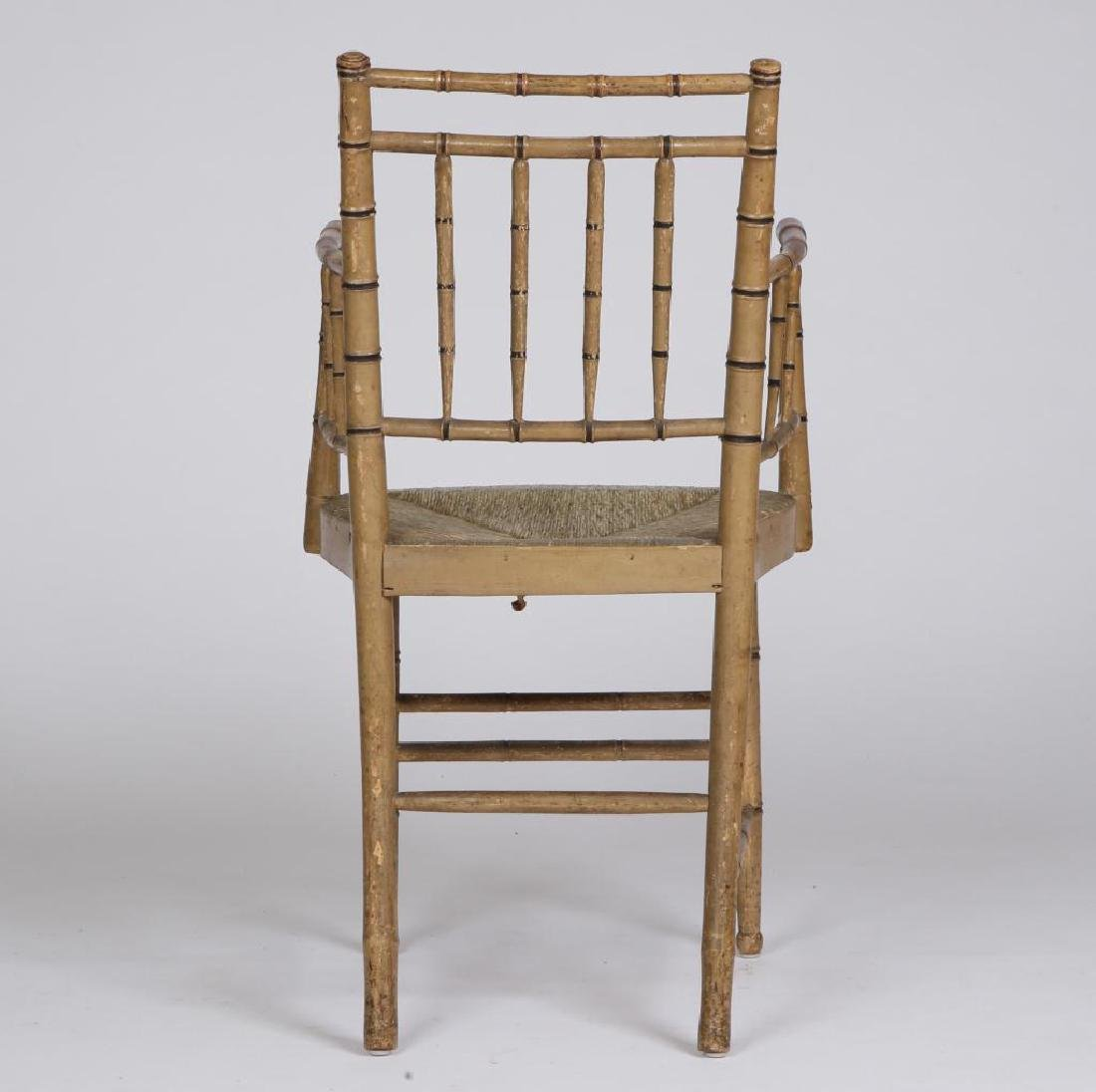 FAUX BAMBOO TURNED SHERATON PARLOR CHAIR c.1820 - 2