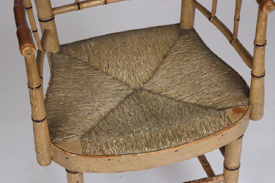 FAUX BAMBOO TURNED SHERATON PARLOR CHAIR c.1820 - 3