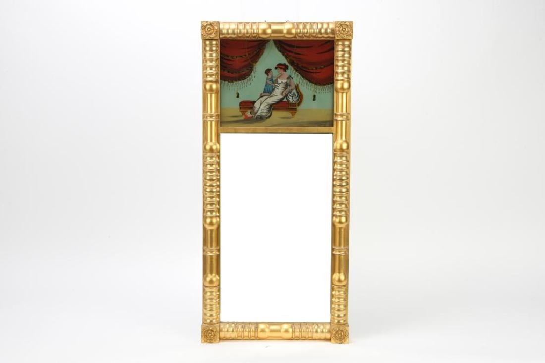 (19th c) GILT SPLIT COLUMN MIRROR