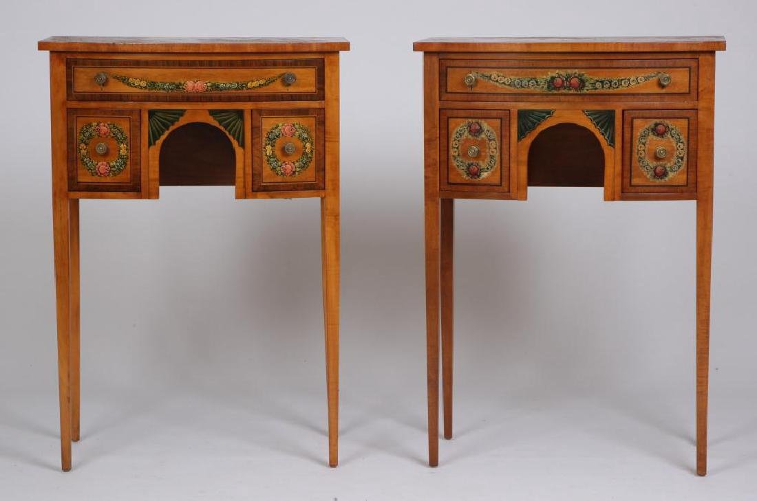 PAIR OF CUSTOM ADAM'S STYLE END TABLES