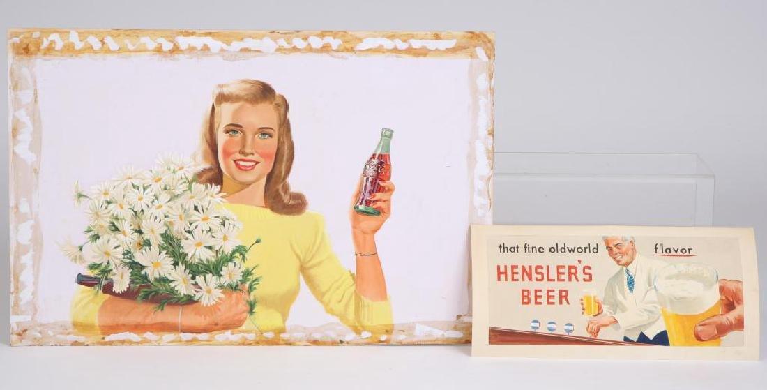 SVEN CARLSON (1911-2006) COKE AND BEER ILLUS
