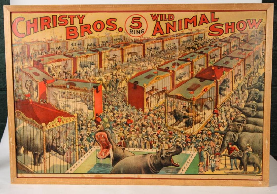 (2) CIRCUS POSTERS WALTER L. MAIN & CHRISTY BROS.