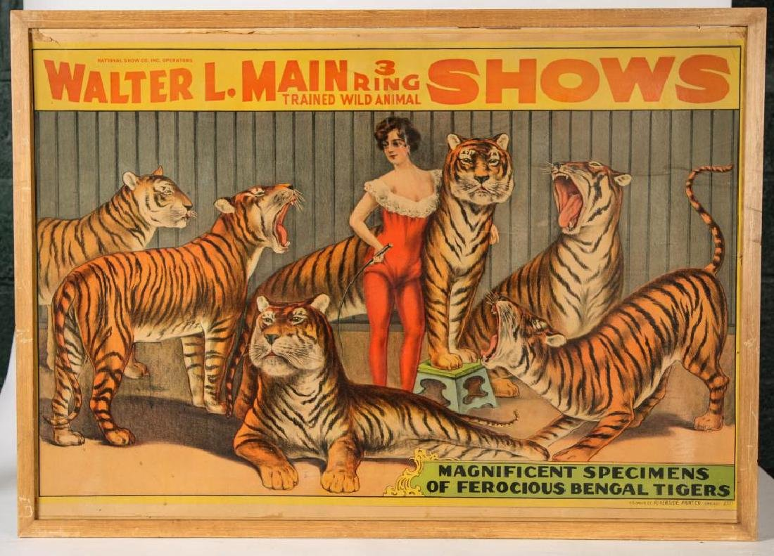 (2) CIRCUS POSTERS WALTER L. MAIN & CHRISTY BROS. - 7