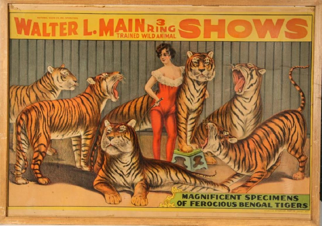 (2) CIRCUS POSTERS WALTER L. MAIN & CHRISTY BROS. - 8