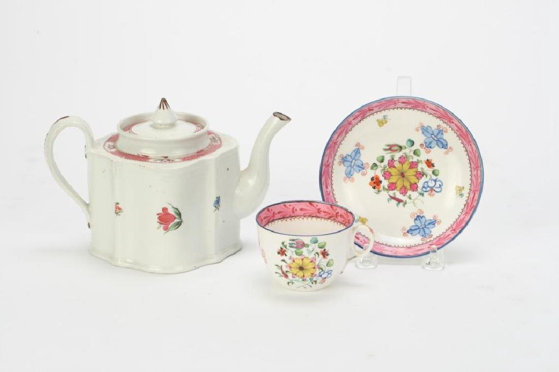 SOFT PASTE TEAPOT AND CUP & SAUCER