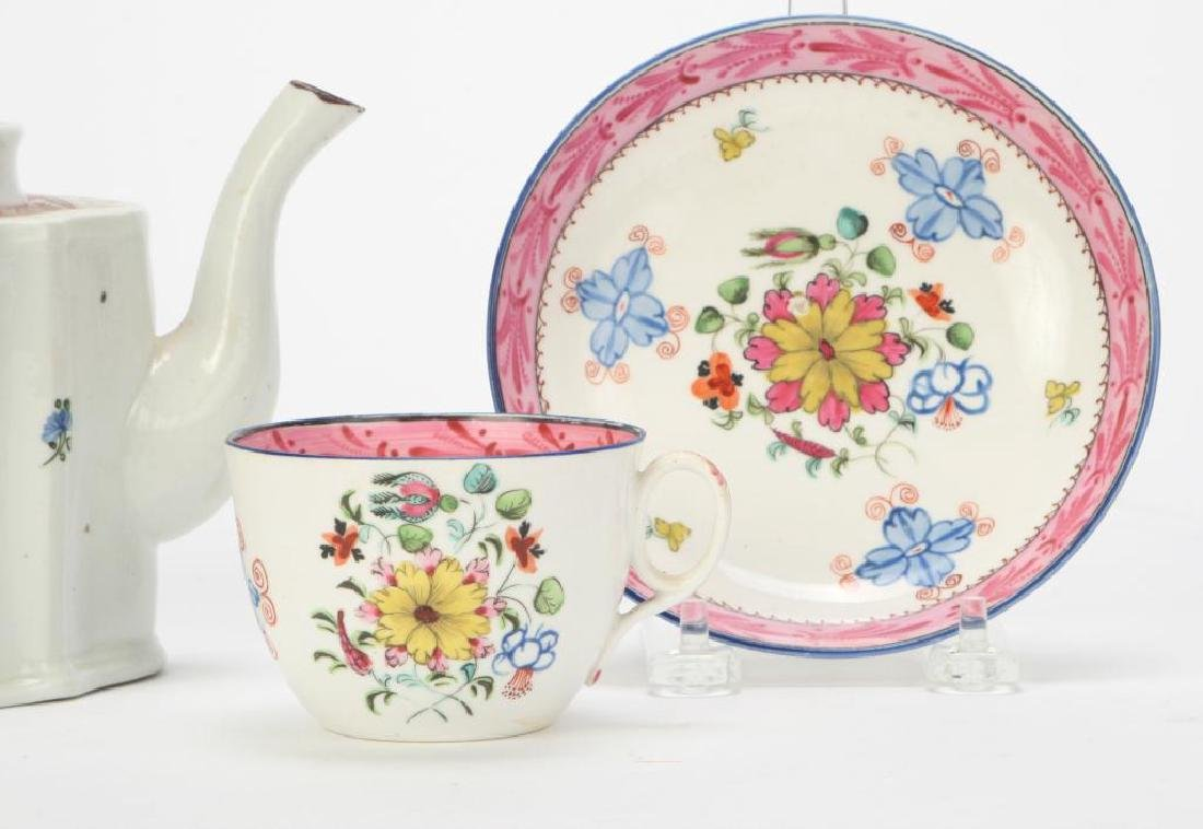 SOFT PASTE TEAPOT AND CUP & SAUCER - 2