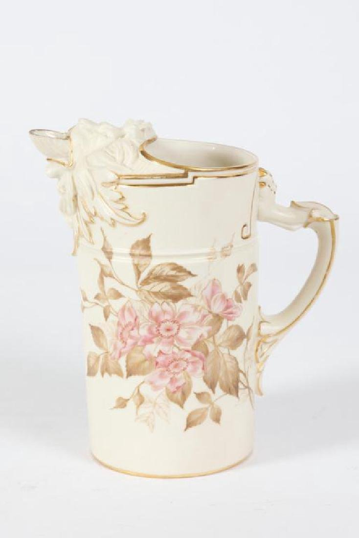 FANCY ROYAL WORCESTER LION MOUTH PITCHER