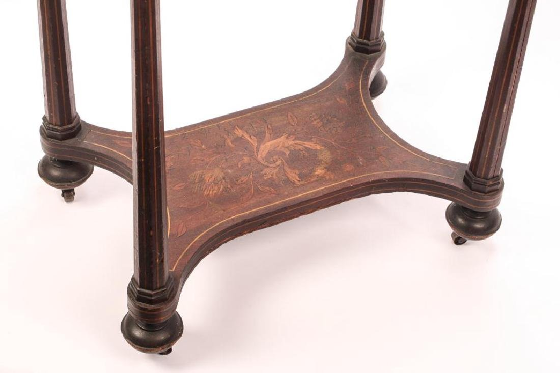 (19th c) MARQUETRY INLAY ONE DRAWER VANITY - 2