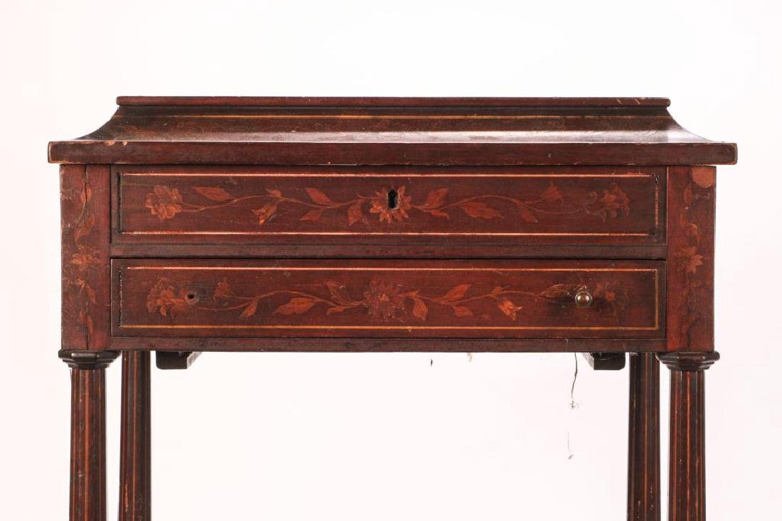 (19th c) MARQUETRY INLAY ONE DRAWER VANITY - 4