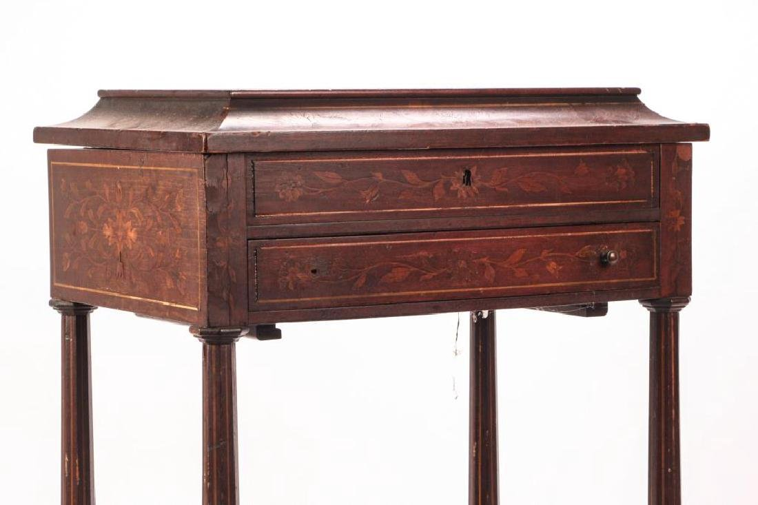 (19th c) MARQUETRY INLAY ONE DRAWER VANITY - 5