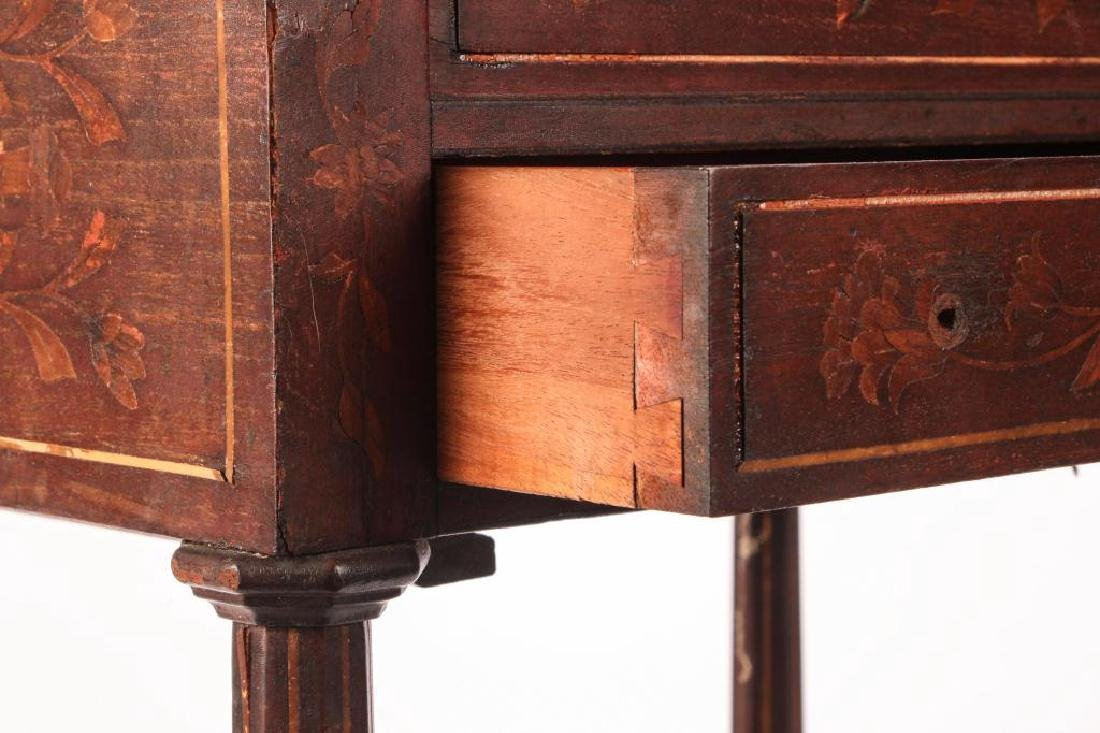 (19th c) MARQUETRY INLAY ONE DRAWER VANITY - 6