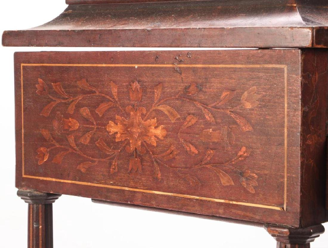 (19th c) MARQUETRY INLAY ONE DRAWER VANITY - 7