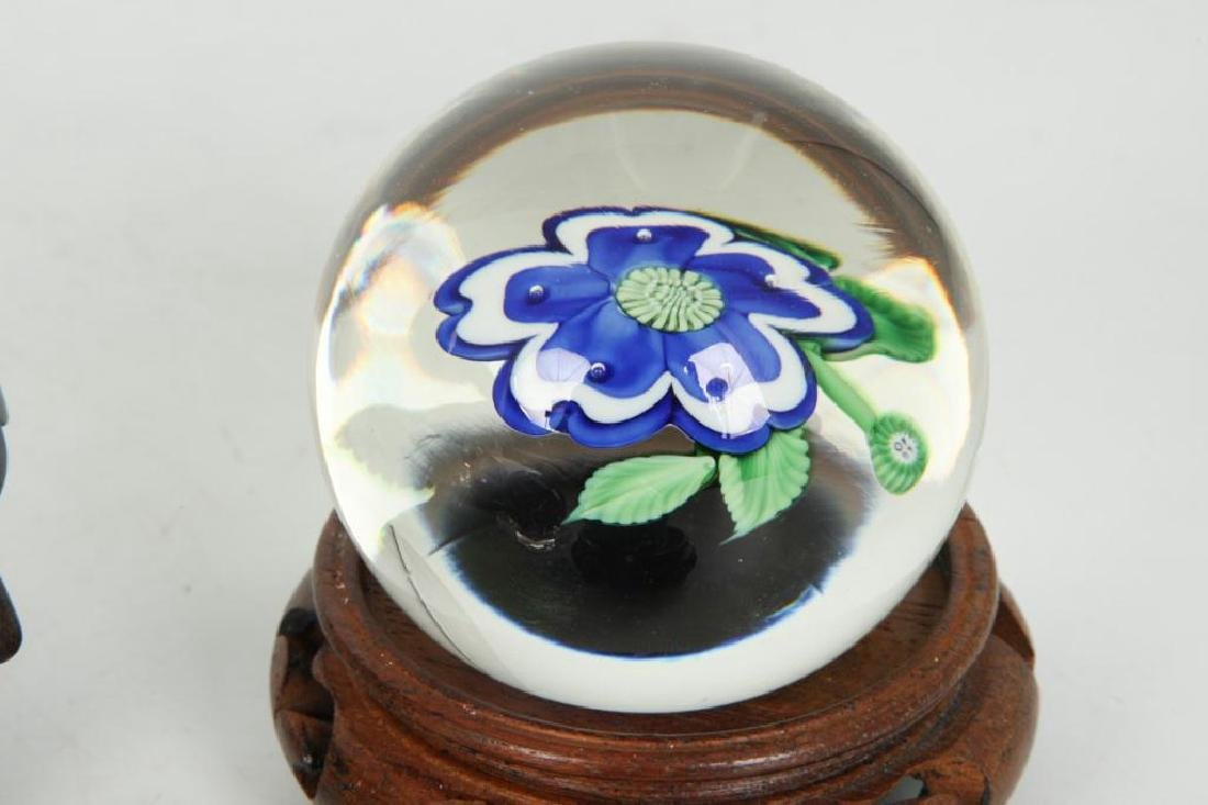(6) GLASS PAPERWEIGHTS and MARBLE - 4