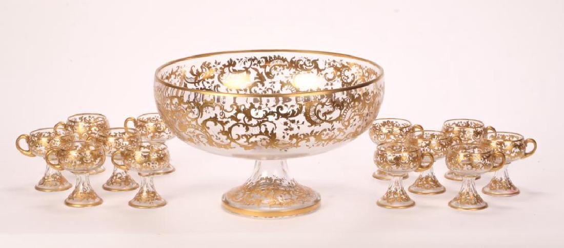 MOSHER QUALITY PUNCH BOWL SET with CUPS