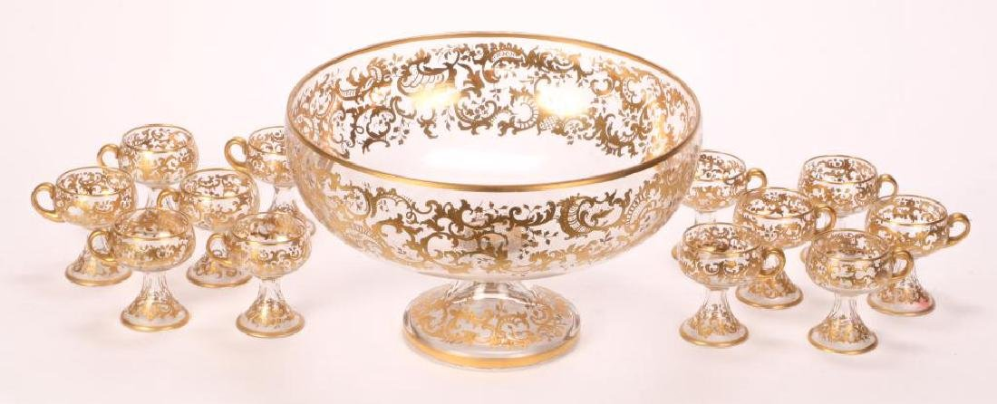 MOSHER QUALITY PUNCH BOWL SET with CUPS - 4