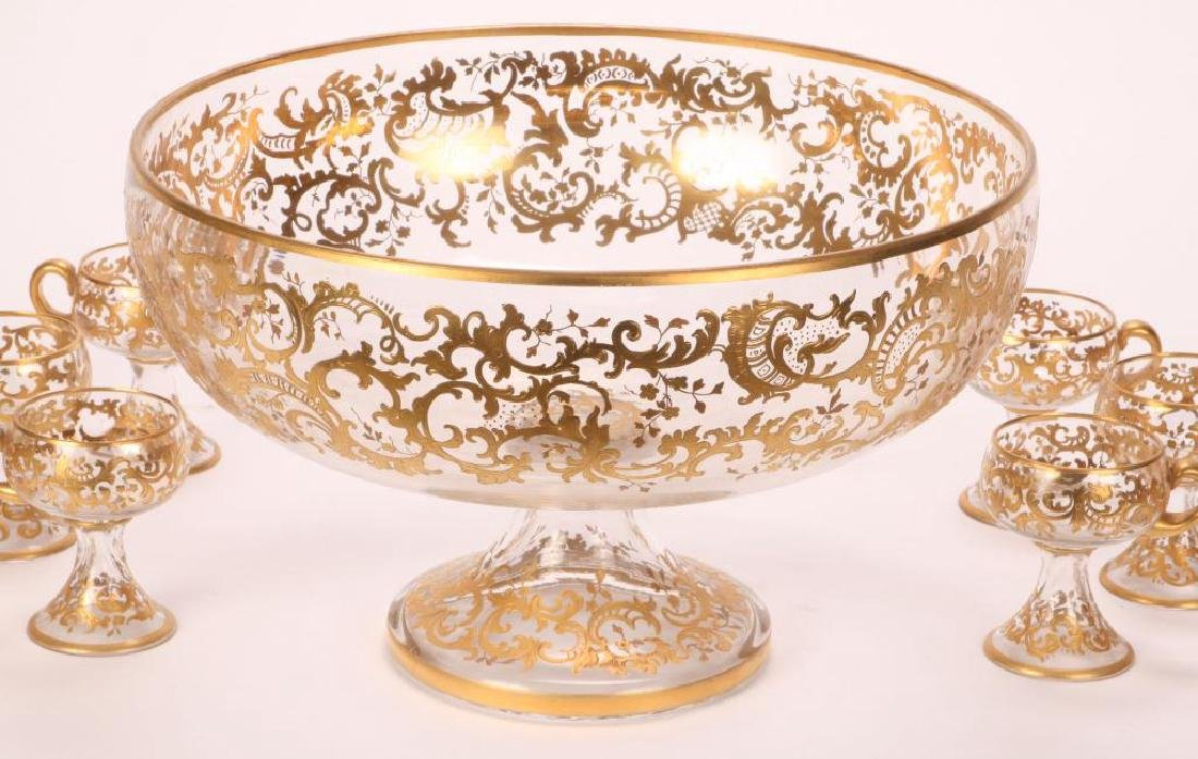 MOSHER QUALITY PUNCH BOWL SET with CUPS - 6