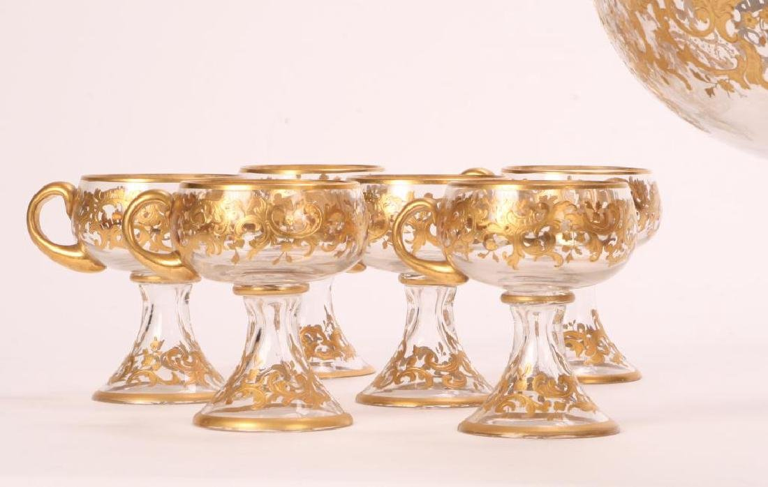 MOSHER QUALITY PUNCH BOWL SET with CUPS - 7