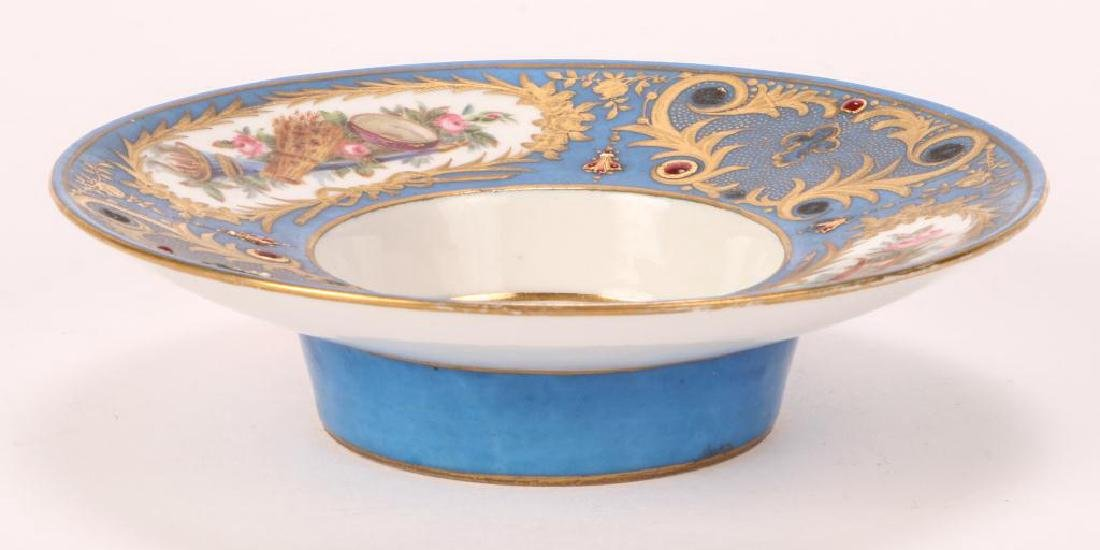 SEVRES TYPE CABINET BROAD RIMMED DISH