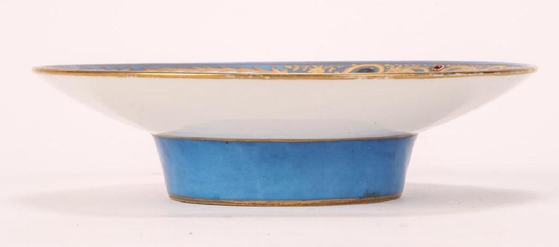 SEVRES TYPE CABINET BROAD RIMMED DISH - 2
