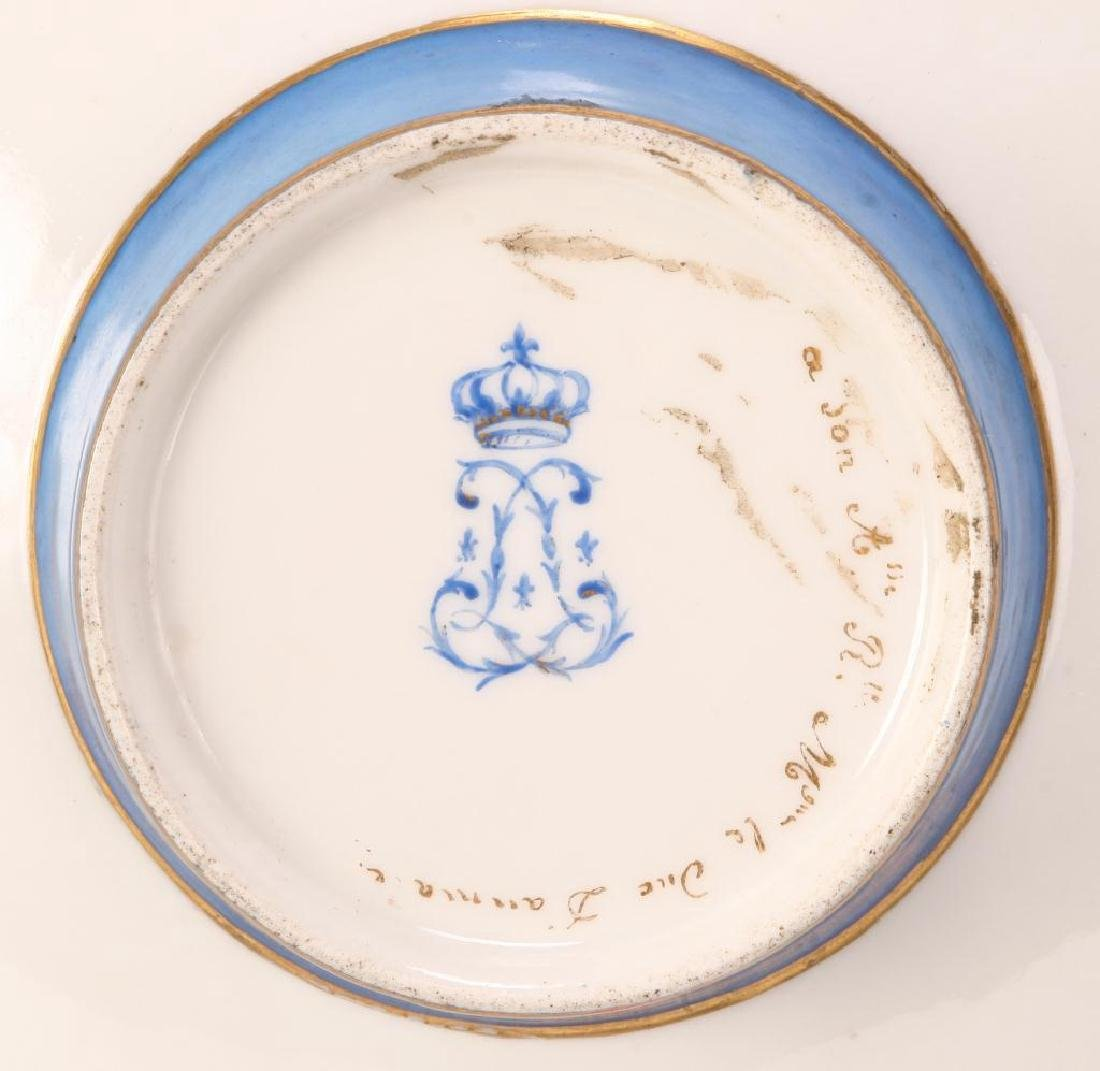 SEVRES TYPE CABINET BROAD RIMMED DISH - 4