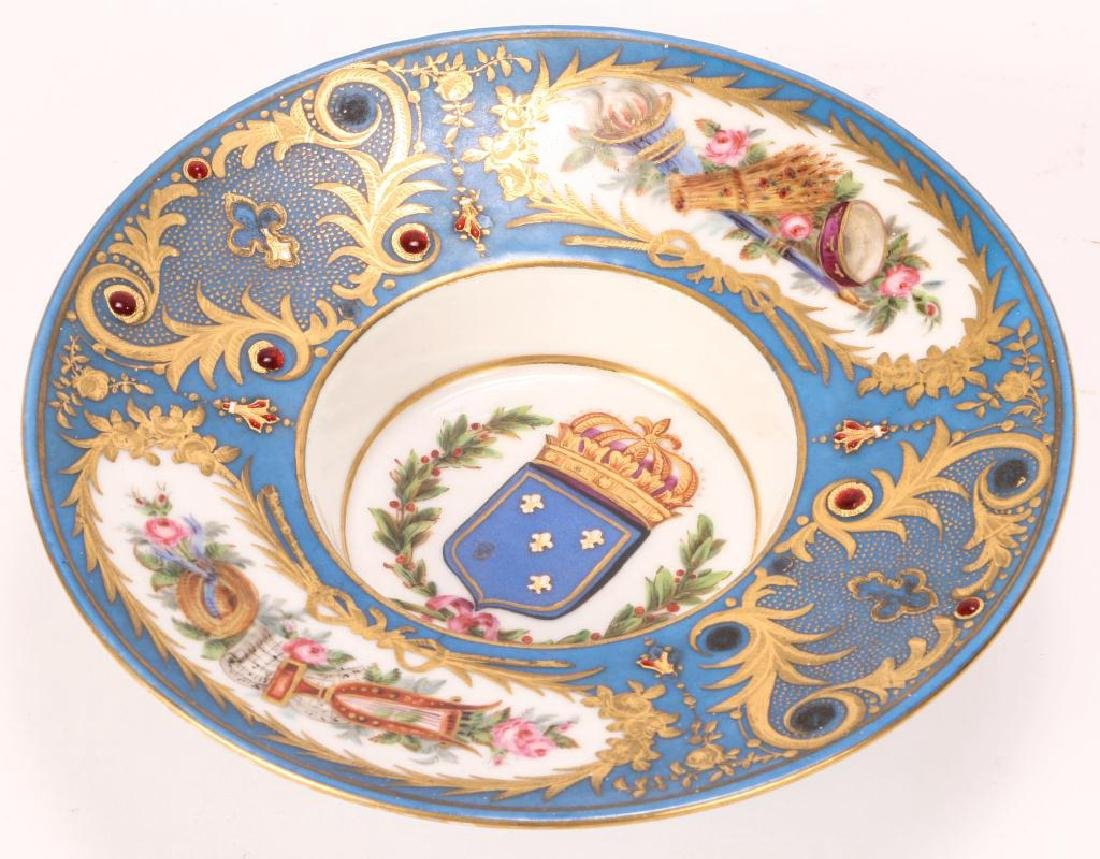 SEVRES TYPE CABINET BROAD RIMMED DISH - 5