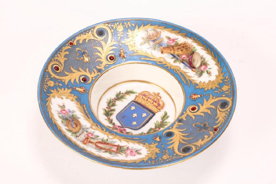 SEVRES TYPE CABINET BROAD RIMMED DISH - 6