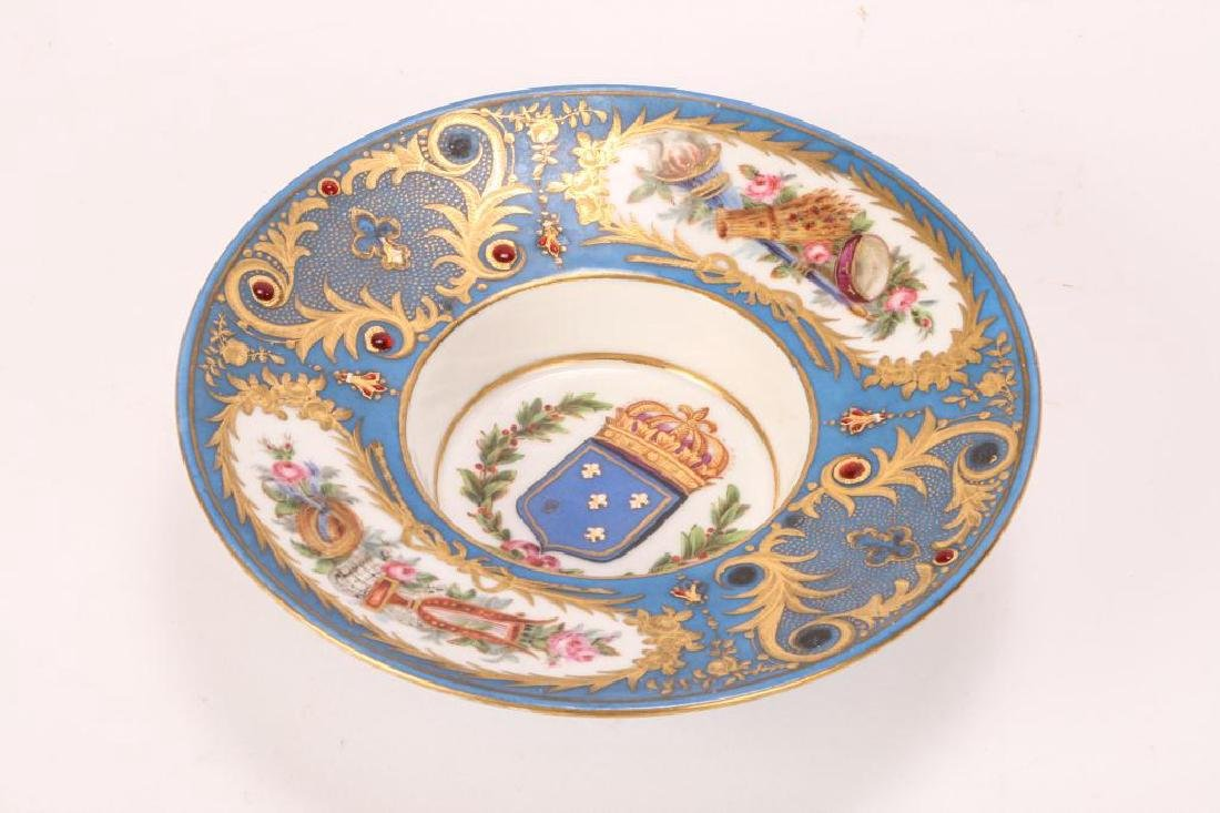 SEVRES TYPE CABINET BROAD RIMMED DISH - 7