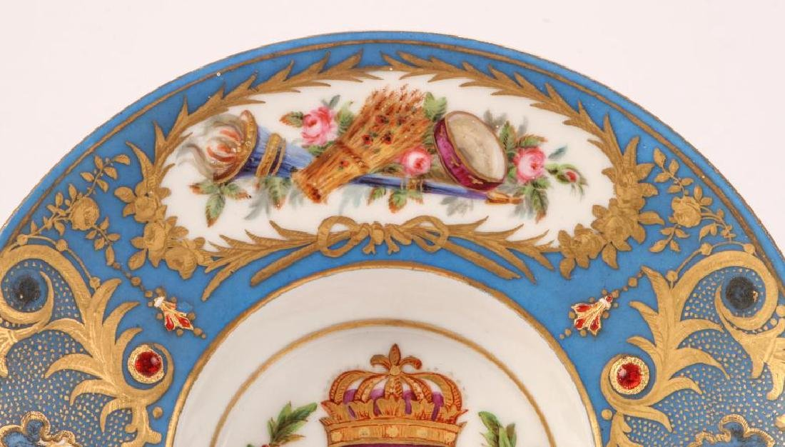 SEVRES TYPE CABINET BROAD RIMMED DISH - 9