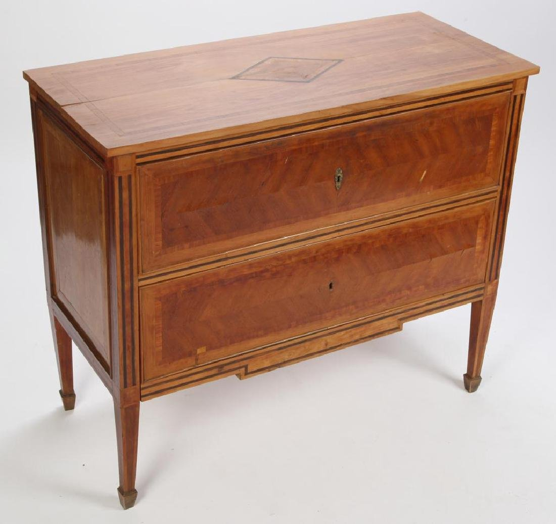 TWO DRAWER CONTINENTAL COMMODE - 7