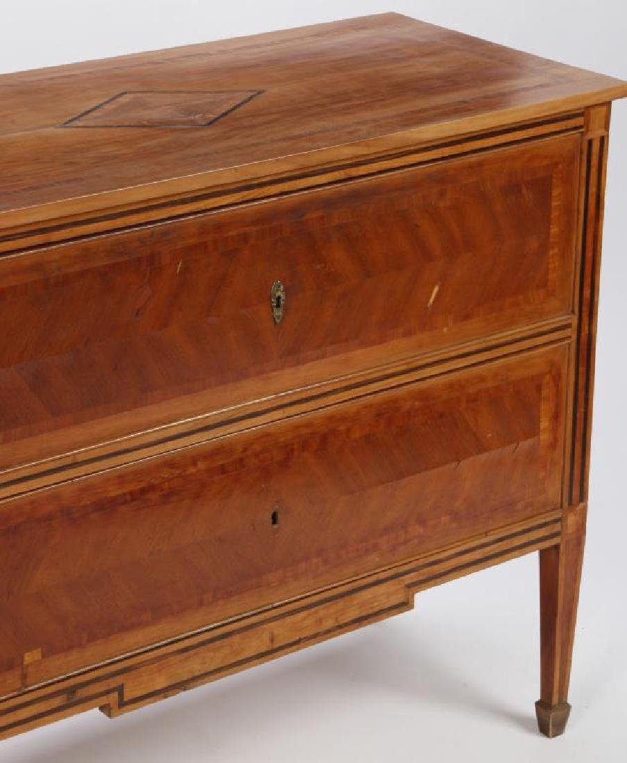 TWO DRAWER CONTINENTAL COMMODE - 8