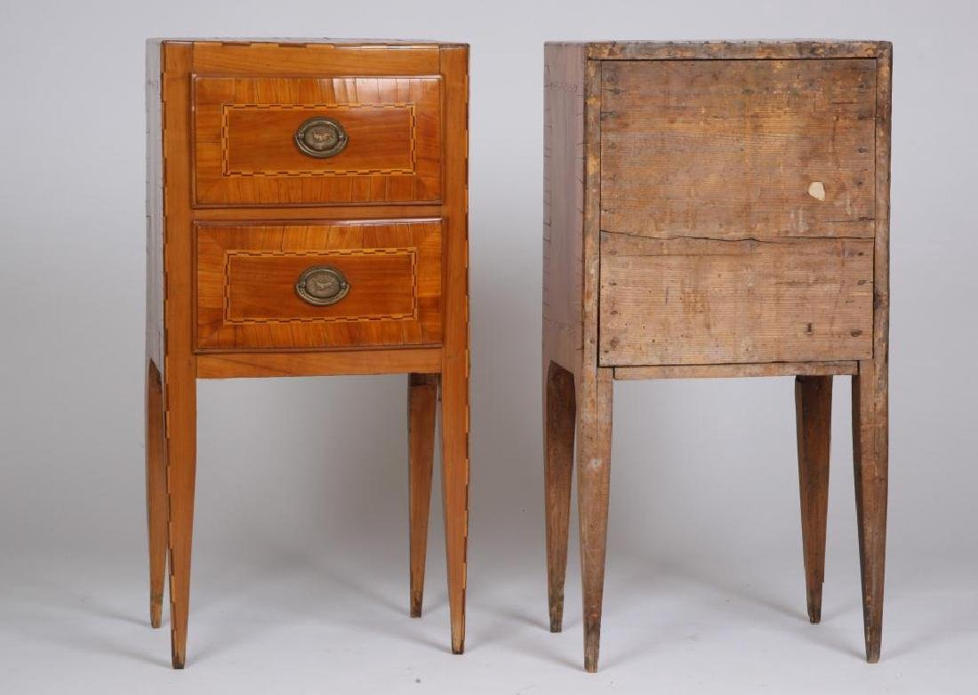 PAIR OF (18th c) CONTINENTAL (2) DRAWER STANDS - 3
