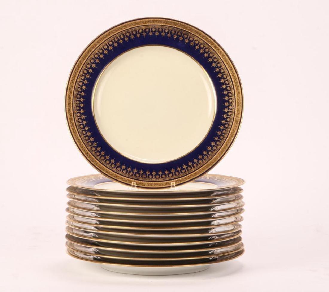 SET OF (12) SPODE COPELAND'S CHINA DINNER PLATES