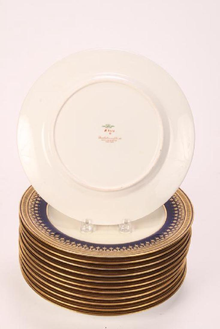 SET OF (12) SPODE COPELAND'S CHINA DINNER PLATES - 3