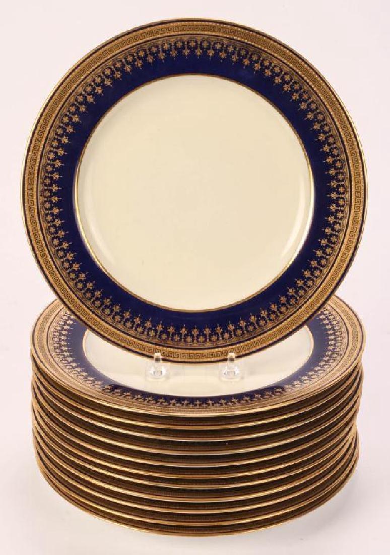 SET OF (12) SPODE COPELAND'S CHINA DINNER PLATES - 4