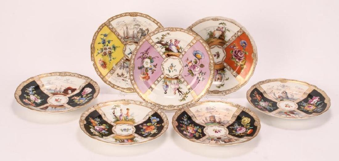 SET OF (7) MEISSEN PLATES