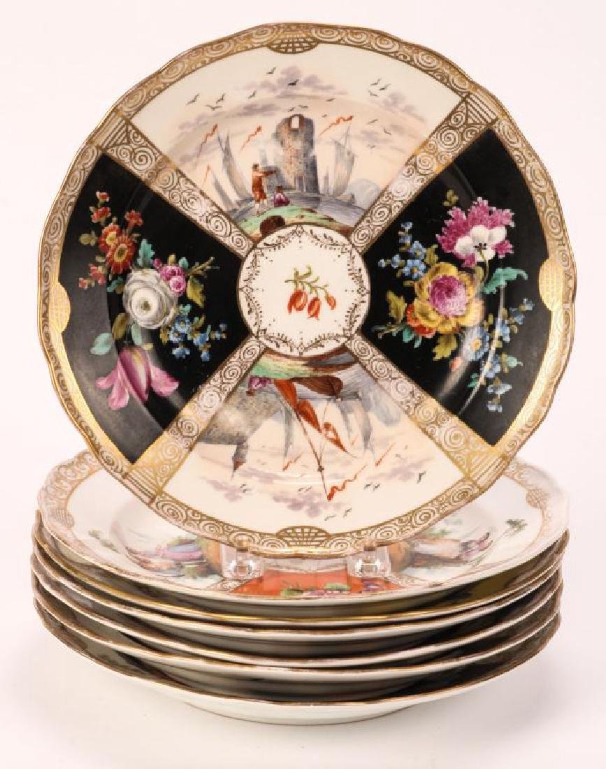 SET OF (7) MEISSEN PLATES - 2
