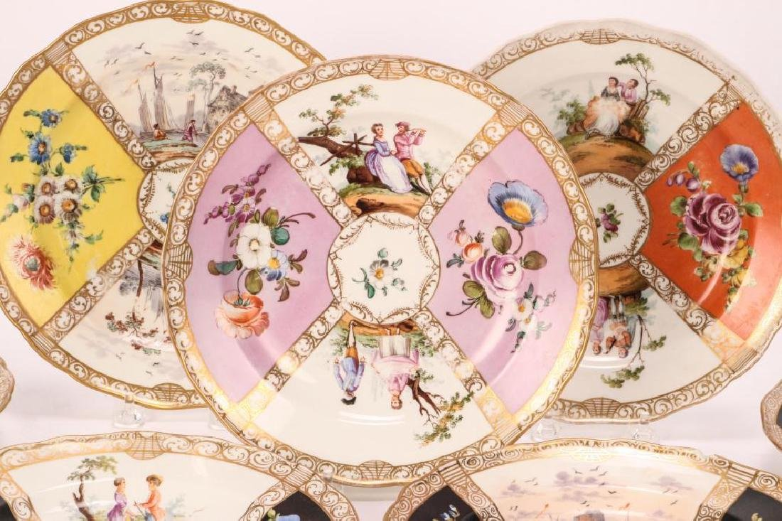 SET OF (7) MEISSEN PLATES - 6