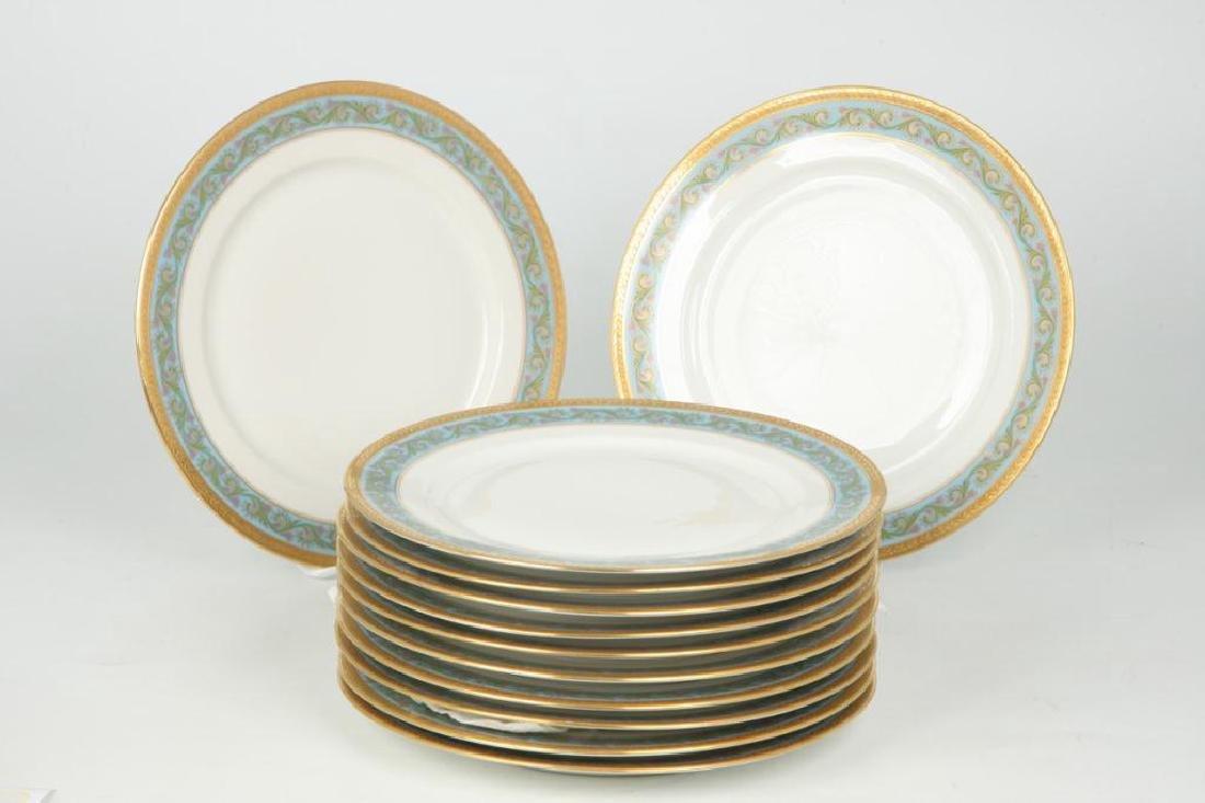 SET OF (12) LIMOGES ELITEWORKS DINNER PLATES