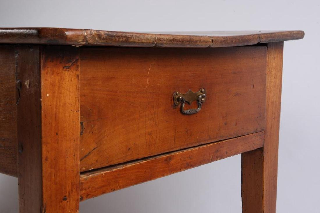 (19th c) CHERRY LIBRARY TABLE - 12