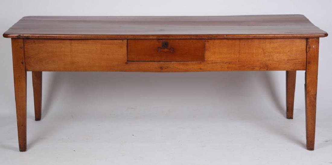 (19th c) CHERRY LIBRARY TABLE