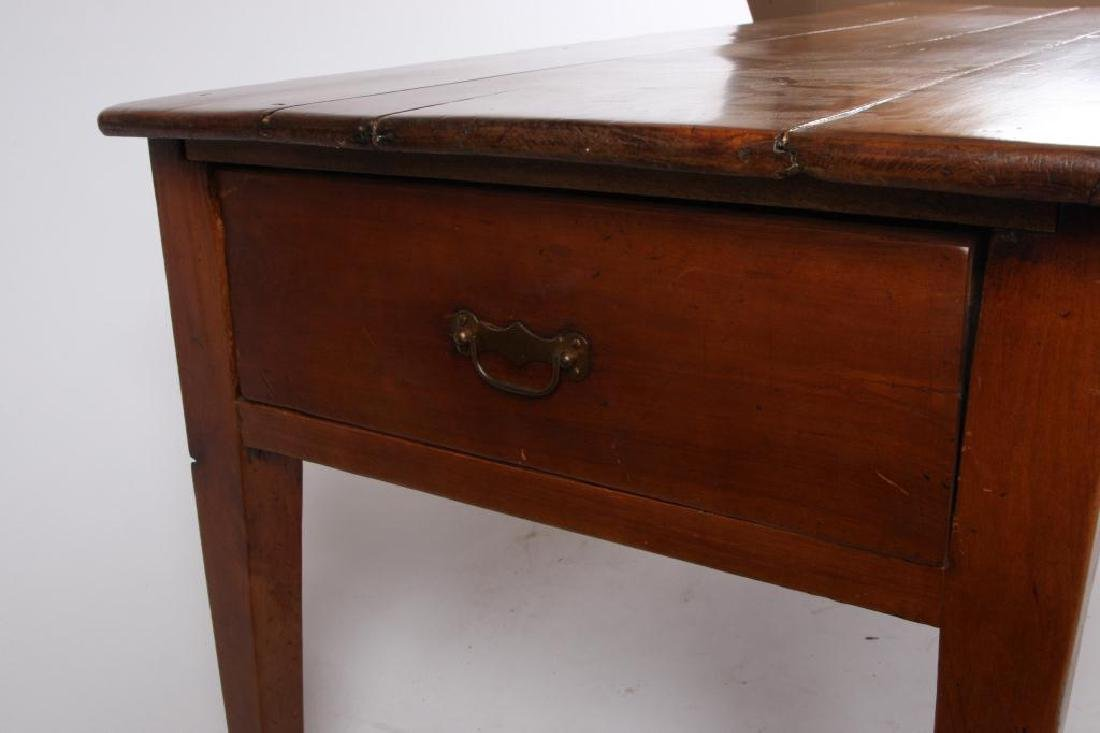 (19th c) CHERRY LIBRARY TABLE - 2