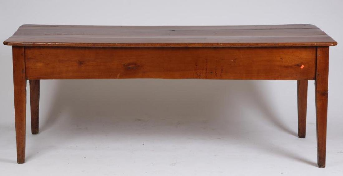 (19th c) CHERRY LIBRARY TABLE - 5